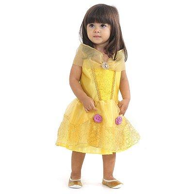 Fantasia Princesas Bela Bebê Luxo