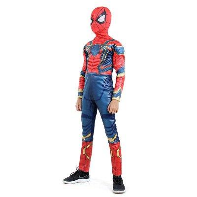Fantasia Homem Aranha de Ferro Luxo - Avengers - Marvel