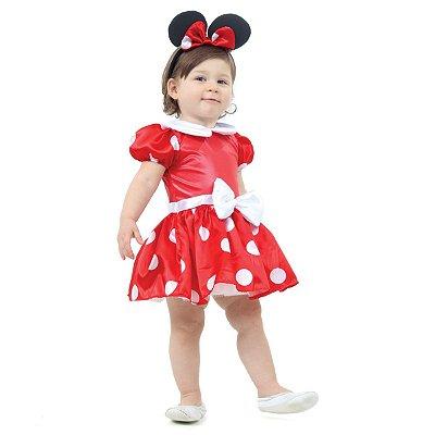 Fantasia Minnie Bebê Vermelha  - Disney