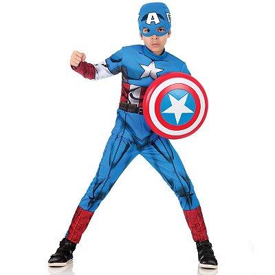 Fantasia Capitão América com Peitoral - Avengers Marvel