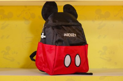 Mochila de Costa Mickey Nylon Bolso Frontal