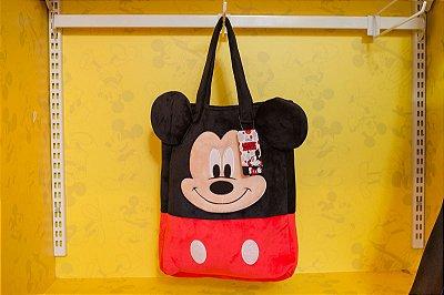 Bolsa Pelúcia Rosto Mickey - Disney