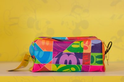 Necessaire Mickey Faces 90 anos Retangular - Disney