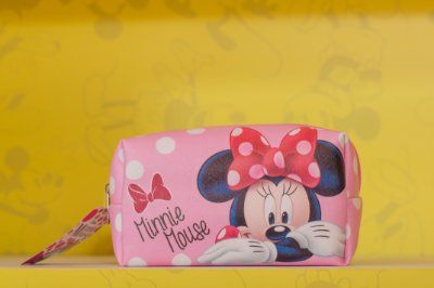 Necessaire Minnie Rosa Retangular - 13 x 20 x 10 cm