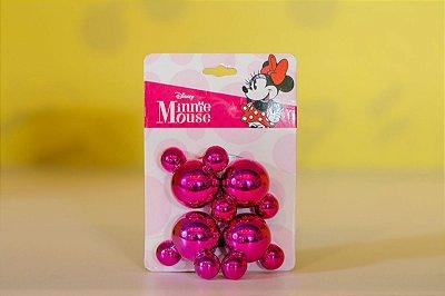 Jogo Elástico Rosa p/ Cabelo Mickey