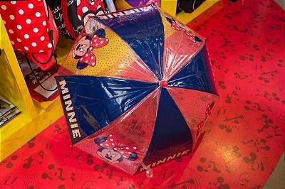 Guarda Chuva Peq. Azul/Vermelho Minnie