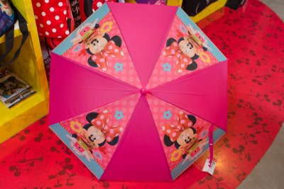 Guarda Chuva Rosa com Apito Minnie - Disney