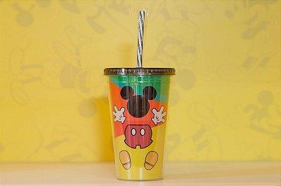 Copo C/ Canudo formato Mickey 90 anos - Disney
