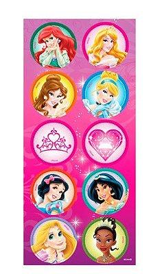 Adesivo Decorativo Redondo Princesas Disney
