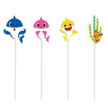 Pick Decorativo Para Bolo Baby Shark