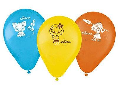 """Balão  Látex 9"""" Sortidos Moana - Disney"""