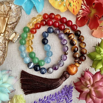 Japamala 54 contas Poder dos Chakras (Japamala de mão)