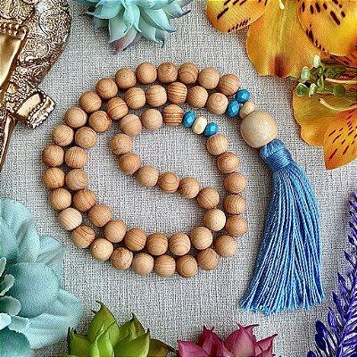 Japamala 54 contas de Sândalo - Facilitar a Intuição, Reduzir a Ansiedade e Harmonizar os Chakras (Japamala de mão) - ÚLTIMO DISPONÍVEL