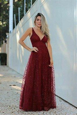 Vestido Pérola Marsala