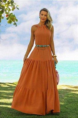 Vestido Pamela Terracota