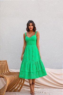 Vestido Midi Raiane Verde