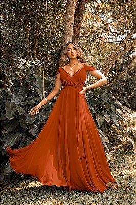 Vestido Rihana Terracota