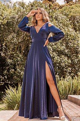 Vestido Melissa Azul Marinho