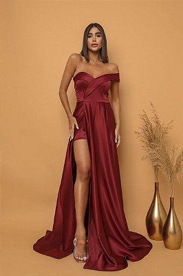 Vestido Thalía Marsala