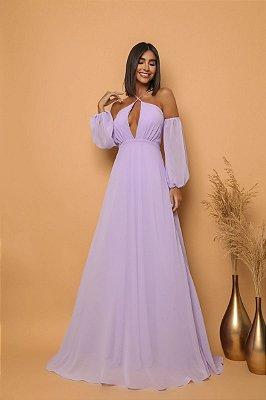 Vestido Maitê Lilas