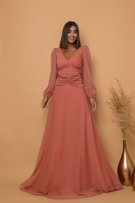 Vestido Gisele Terracota