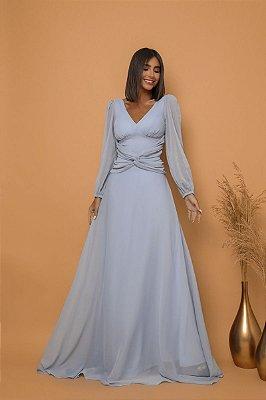 Vestido Gisele Azul Serenity