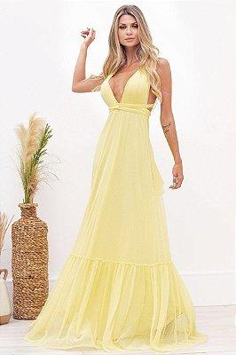 Vestido Mil Formas Paris Amarelo