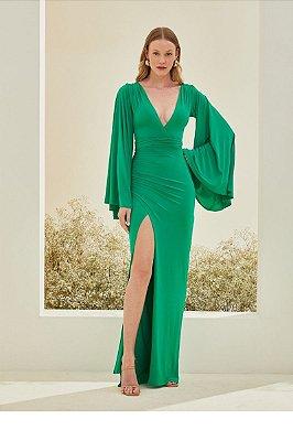 Vestido Paloma Verde Bandeira