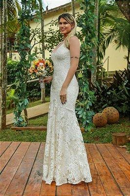Vestido Carla Off White