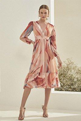 Vestido Midi Fábia Rosa