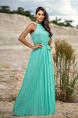Vestido Larissa Verde Tiffany