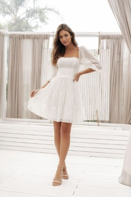 Vestido Curto Titi Off White