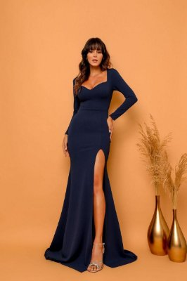 Vestido Cora Azul Marinho
