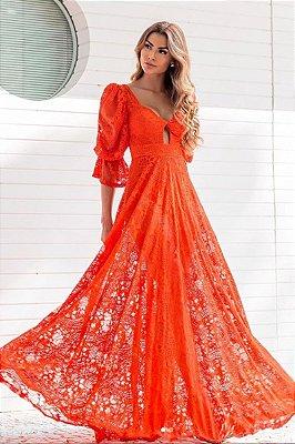 Vestido Flavia Laranja