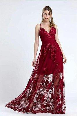 Vestido Valentina Marsala