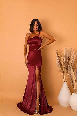 Vestido Malibu Marsala