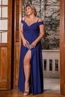Vestido Merlyn Azul Royal Plus Size