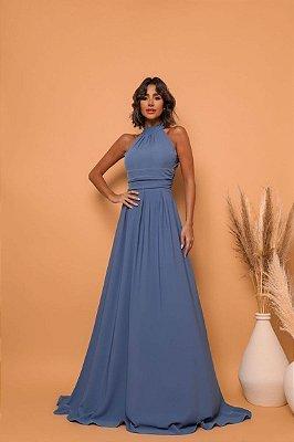 Vestido Bárbara Azul Petroleo