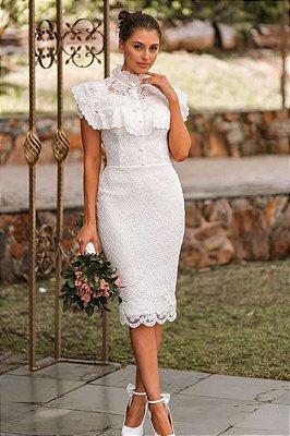 Vestido Midi Pilar Off White