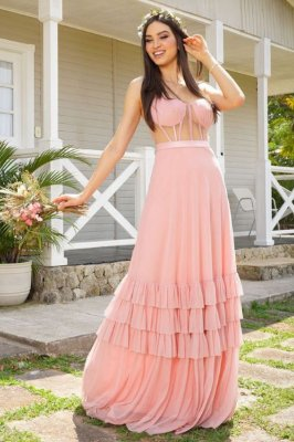 Vestido Yumi Rosa
