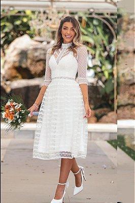 Vestido Midi Lana Off White