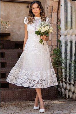 Vestido Midi Mel Off White
