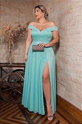 Vestido Merlyn Verde Tiffany Plus Size