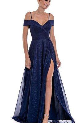 Vestido Merlyn Azul Marinho
