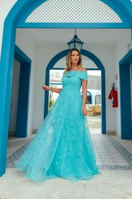 Vestido Adriane Verde Tiffany