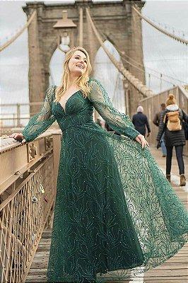 Vestido Mariah Verde Musgo