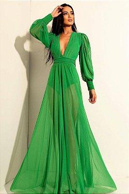 Vestido Grace Verde Bandeira