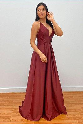 Vestido Nívia Marsala