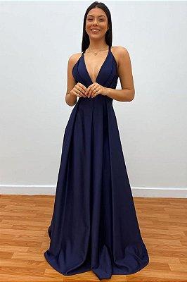 Vestido Nívia Azul Marinho