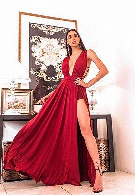 Vestido Safira Marsala